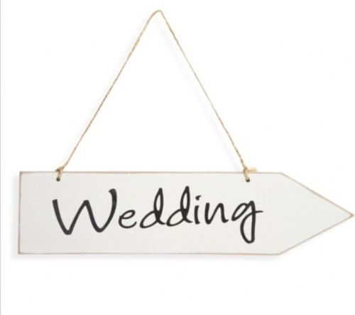 To the 'Wedding' sign